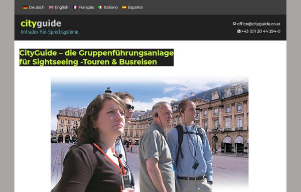 CityGuide Webpage