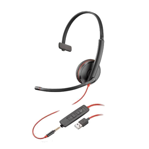 Plantronics-Blackwire-3215-USB-Klinke-kabelgebunden-einseitig