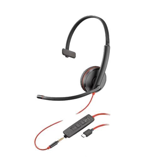 Plantronics-Blackwire-3215-USB-Klinke-kabelgebunden-einseitig2