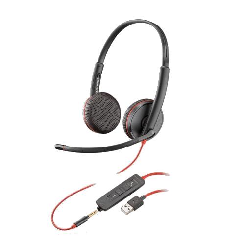 Plantronics-Blackwire-3225-USB-Klinke-kabelgebunden-doppelseitig