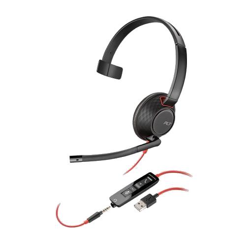 Plantronics-Blackwire-5210-USB-Klinke-kabelgebunden-einseitig