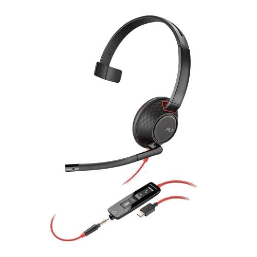 Plantronics-Blackwire-5210-USB-Klinke-kabelgebunden-einseitig2
