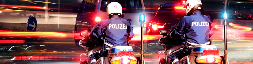Polizei-Motorradhelm-Kommunikation-Titan