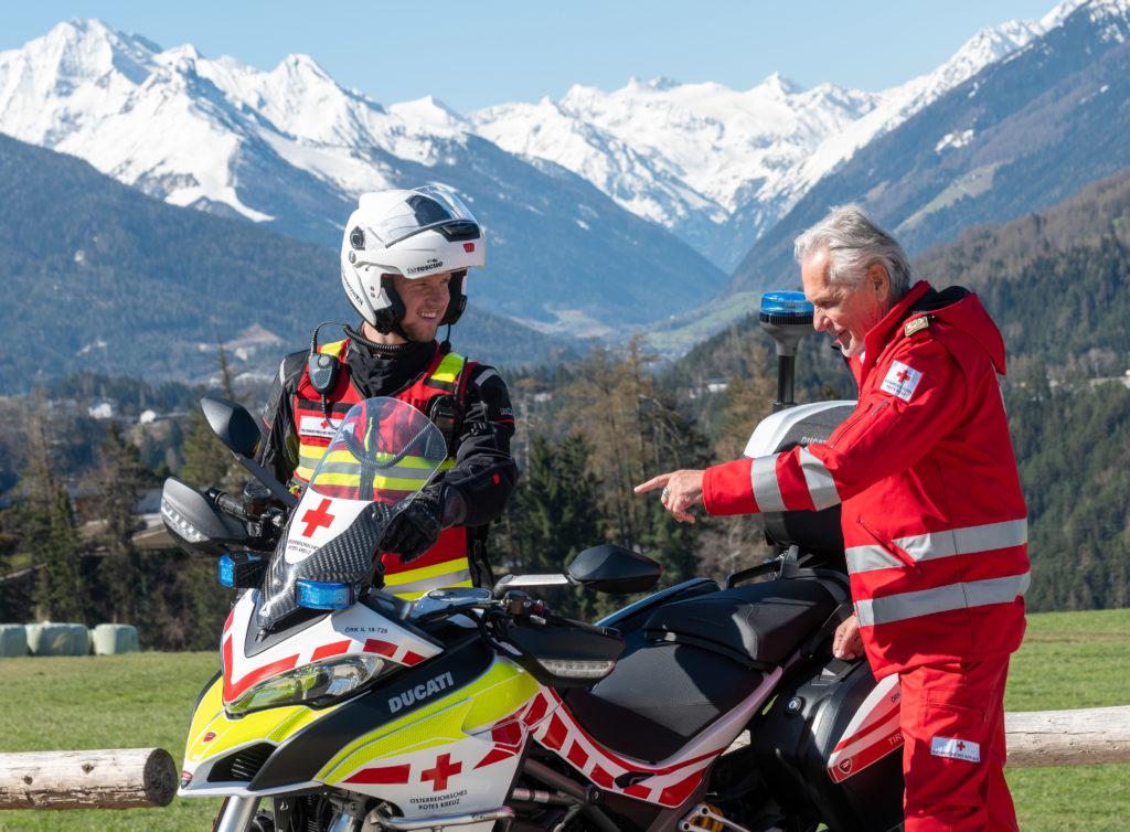 Flottenzuwachs beim Roten Kreuz: Hilfe auf zwei Rädern