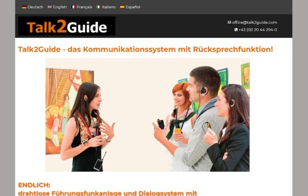 Talk2Guide Webpage